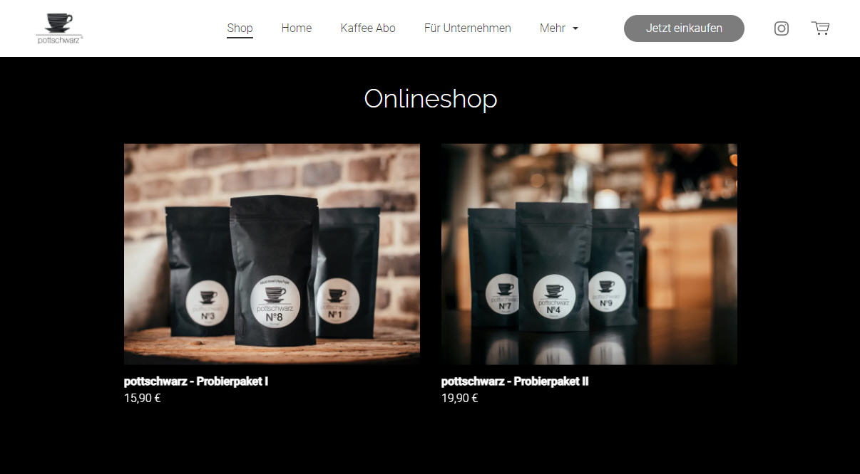 Onlineshop Kaffee Abo