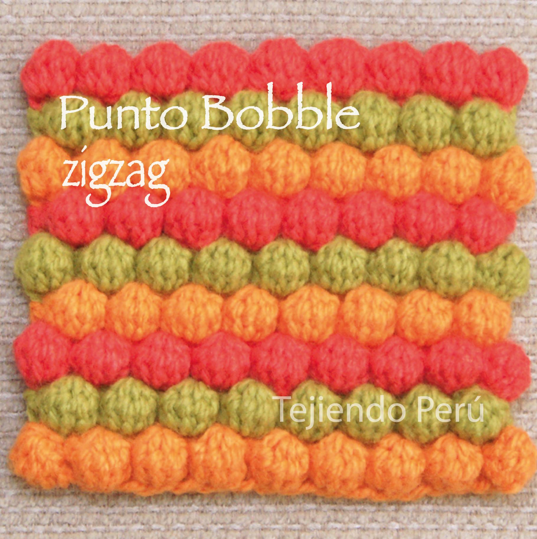 Galería de puntos fantasía 18 (bobble crochet) - Tejiendo Perú