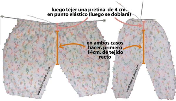 pantalón de bebe tejiendoperu