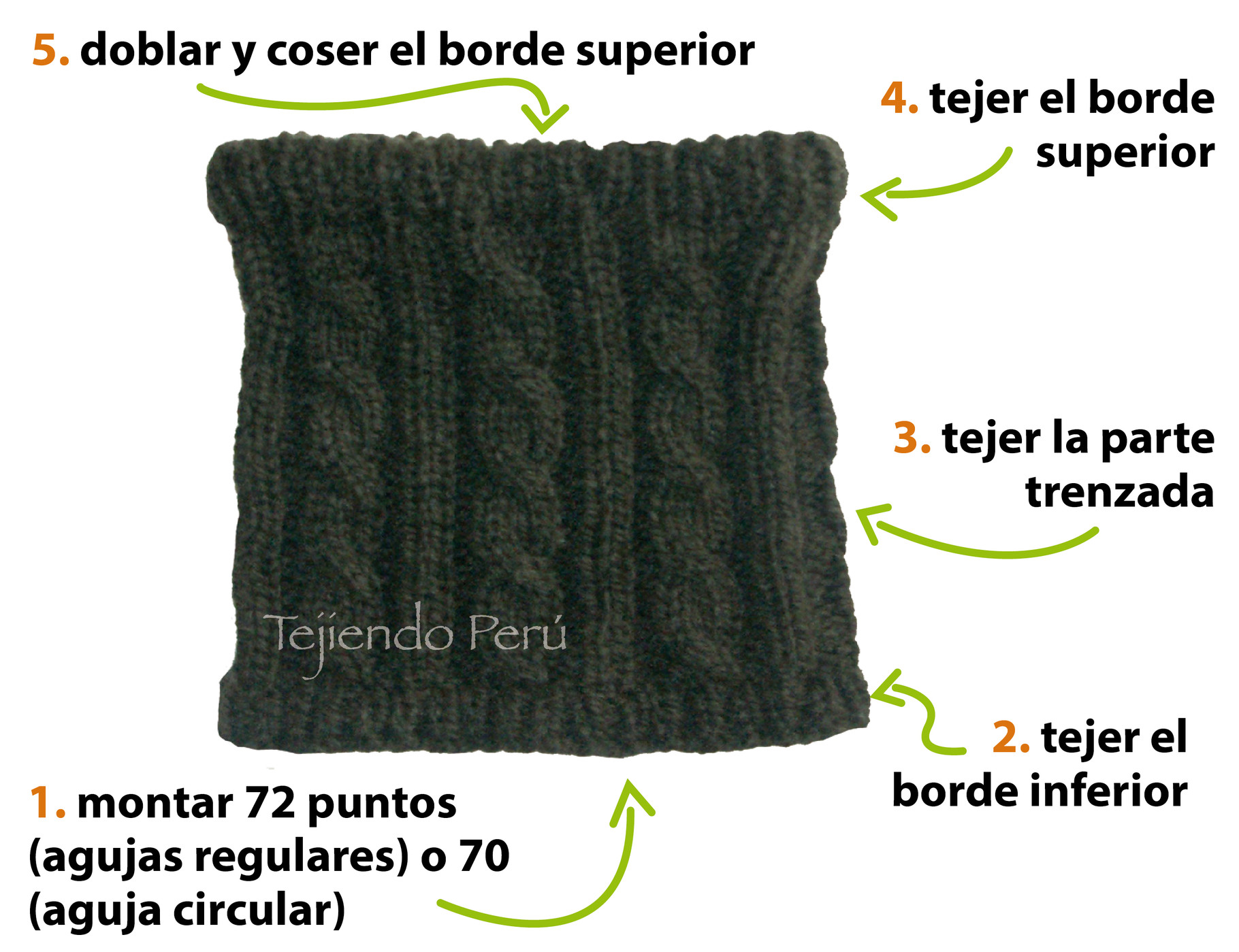 Cuello trenzado para hombres - Tejiendo Perú 24b09e56aae5
