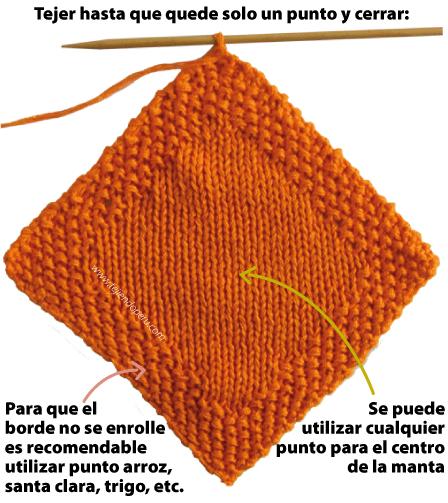 Manta para bebé - Tejiendo Perú...