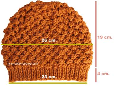 boina slouchy knit  beret