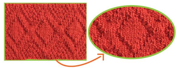 Cómo tejer el punto doble rombo en dos agujas o palitos
