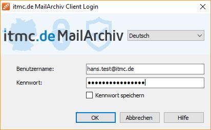itmc.de MailArchiv Client Login