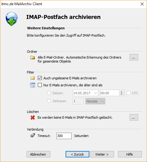 itmc.de MailArchiv Client IMAP Einstelllungen (2)