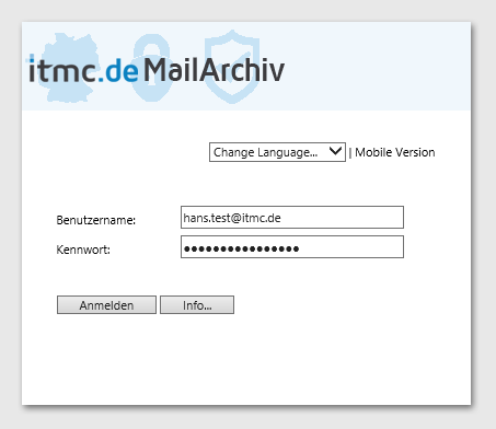itmc.de MailArchiv WebLogin