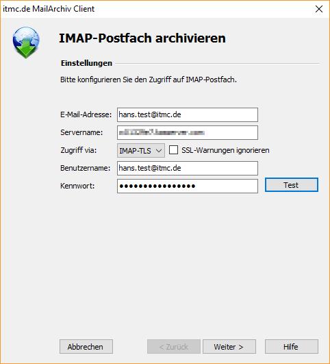 itmc.de MailArchiv Client IMAP Einstelllungen (1)