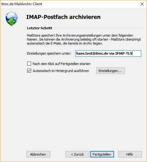 itmc.de MailArchiv Client IMAP Einstelllungen (3)