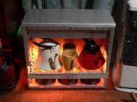 パソコン暖炉で