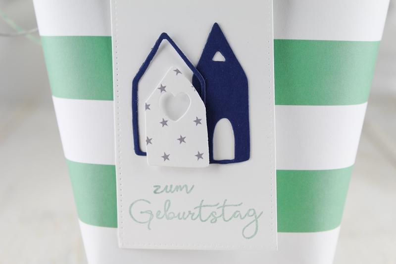 Box in a Bag, Geschenkverpackung, Geschenkanhänger, Mitbringsel, Häuschen, Tag