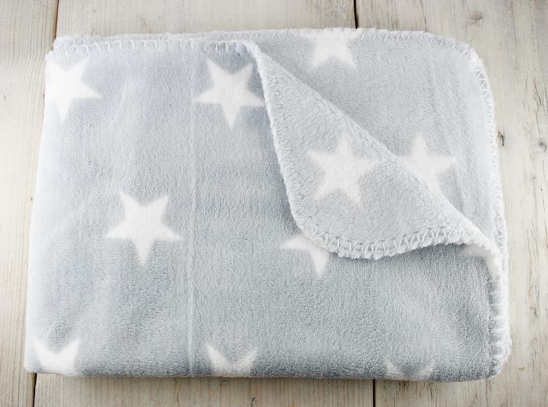 Babydecke, Sternchen, Sterne, Kuscheldecke, Babygeschenk, Geschenk zur Geburt