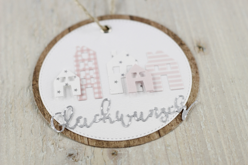 Geschenkanhänger, Mitbringsel, Tag, Haus, Häuschen, Geschenk