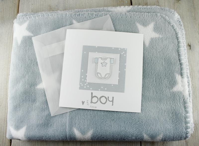 Babykarte, Karte zur Geburt, Geschenk zur Geburt, Babygeschenk, Sternchen