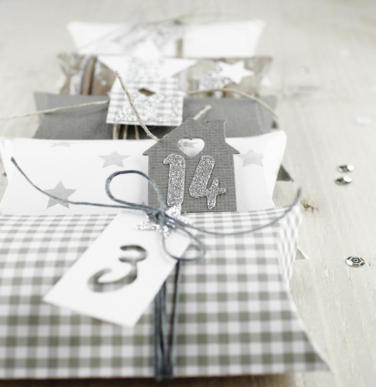 Adventskalender, Pillowbox, Geschenk, Weihnachten
