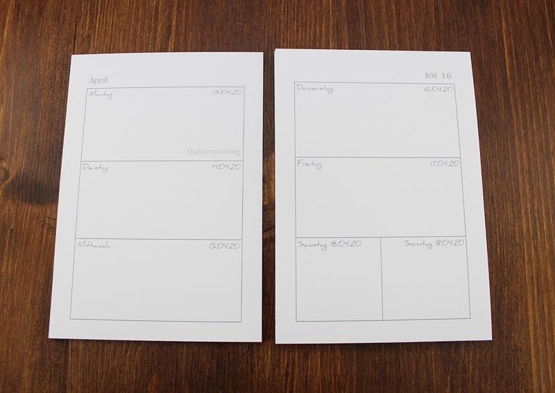 Kalender, Kalendarium, Din A6, Kalender zum selbst gestalten, Kalender zum selber basteln