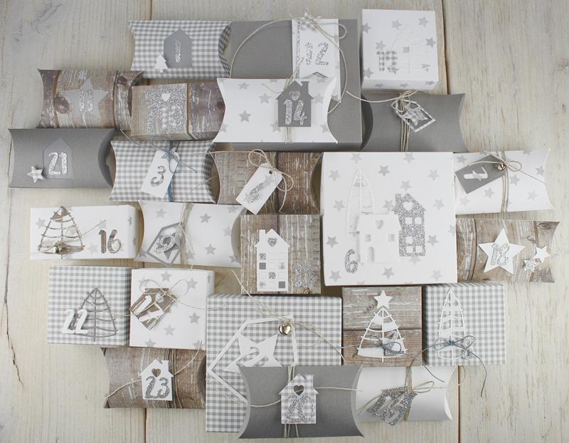 Adventskalender, Pillowbox, Box, Geschenk, Weinnachten