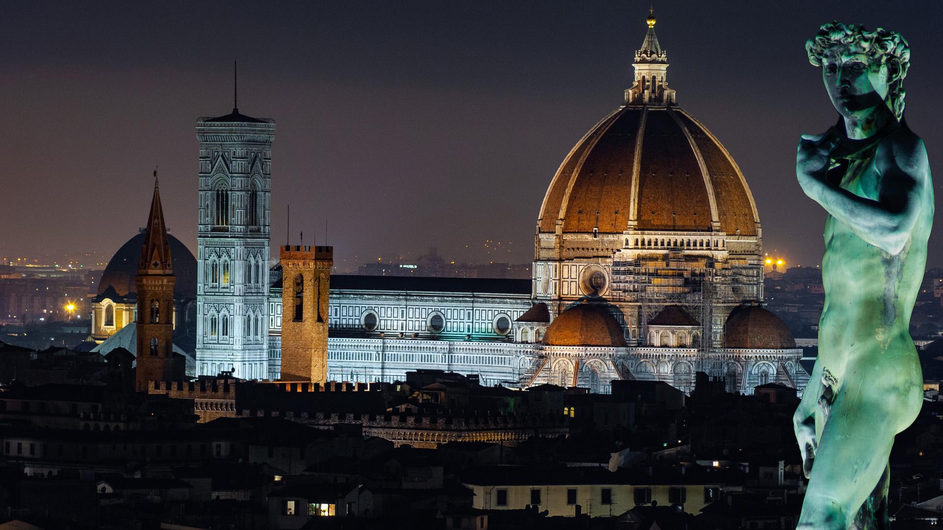 Il Piazzale Michelangelo - Notturno Fiorentino