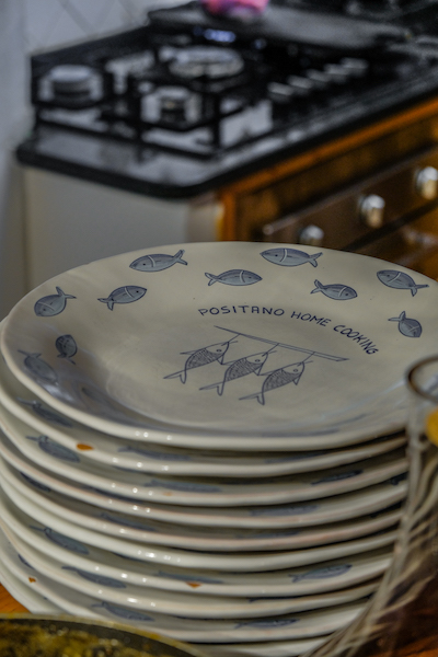Customized Positano Home Cooking Plates