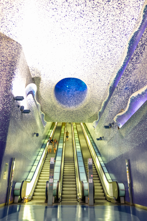 Metro on Via Toledo in Naples Italy