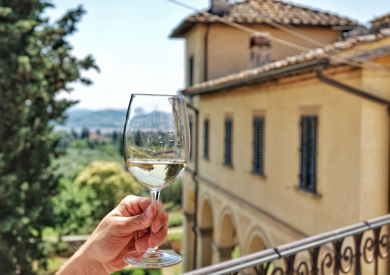 Glass of Wine in Tuscany, Fattoria di Maiano Fiesole