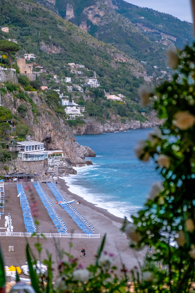 Seaside view from Positano Home Cooking Class