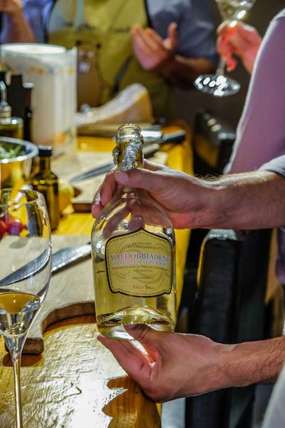 Prosecco bottle Positano Home Cooking Class
