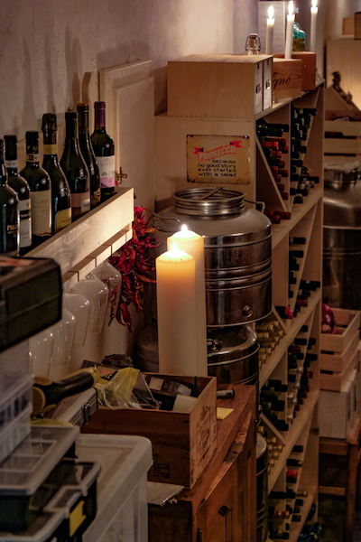 Private Wine Cellar of Peter Capraro Positano Home Cooking Class