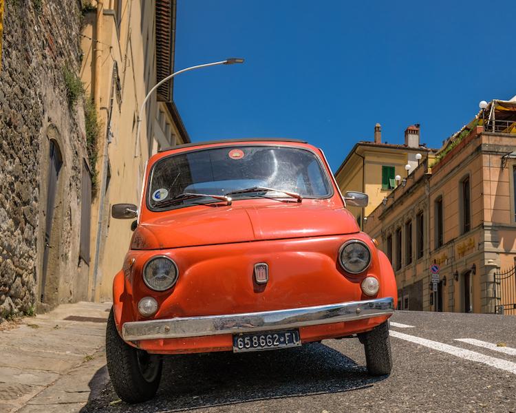 Fiat 500 in Fiesole