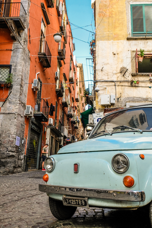 Old Fiat 500 in Naples Italy