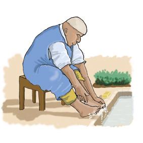 illustration diabète et hygiène des pieds