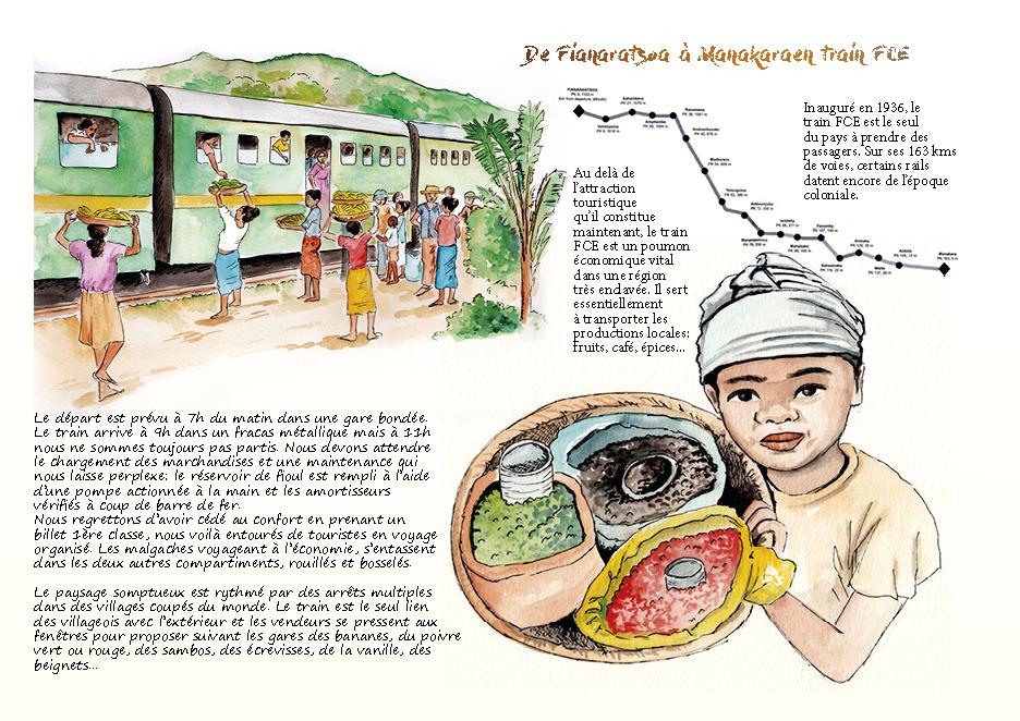 Carnet de voyage à Madagascar train FCE