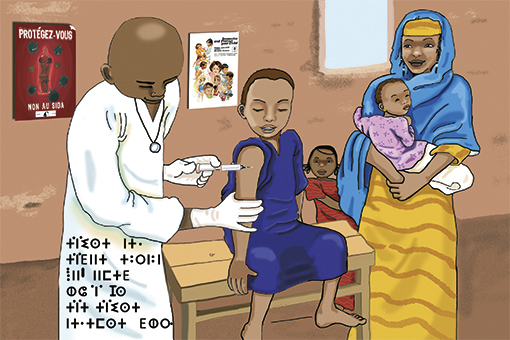 illustration: vaccination enfants