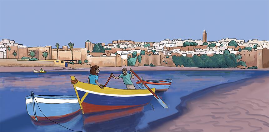 illustration numérique découverte de Rabat