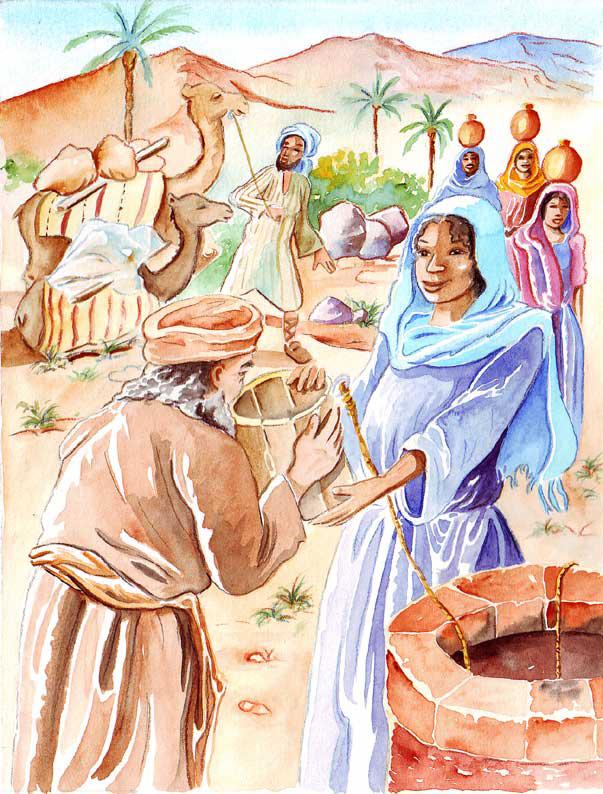 "illustration ""la bible racontée a mes petits enfants"" : Rebecca"
