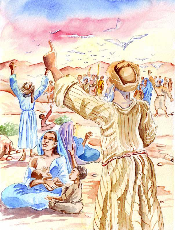"""illustration """"la bible racontée a mes petits enfants"""" : Fuite en Egypte"""