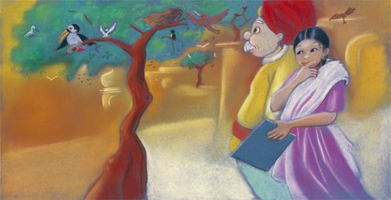 Les oiseaux d'Haminâ (double page sans le texte)