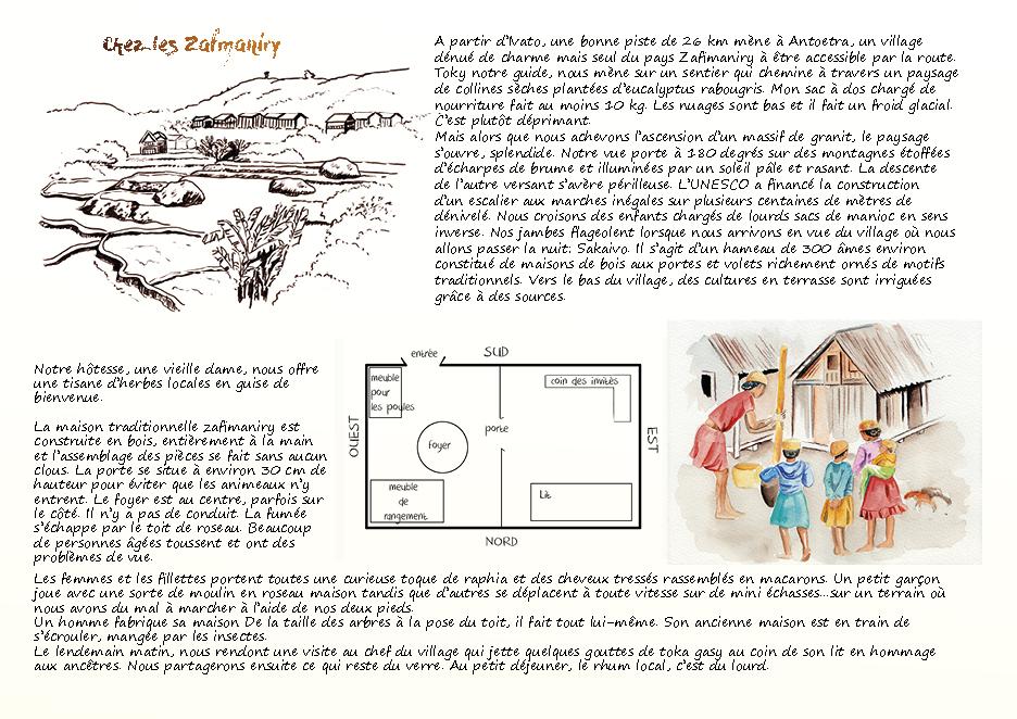 Carnet de voyage à Madagascar Zafimaniry