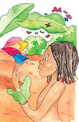 Oufana et le papillon bleu-illustrations Véronique Abt