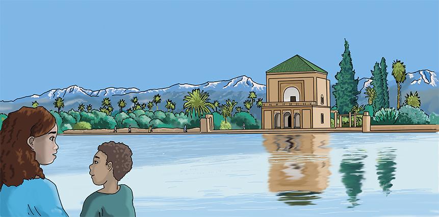 illustration numérique découverte de Marrakech