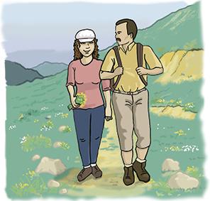 illustration diabète et  marche