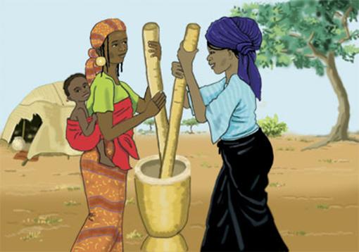 illustration couverture livret de prévention médicale Sahel