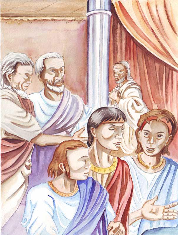 """illustration """"la bible racontée a mes petits enfants"""" :Salomon"""