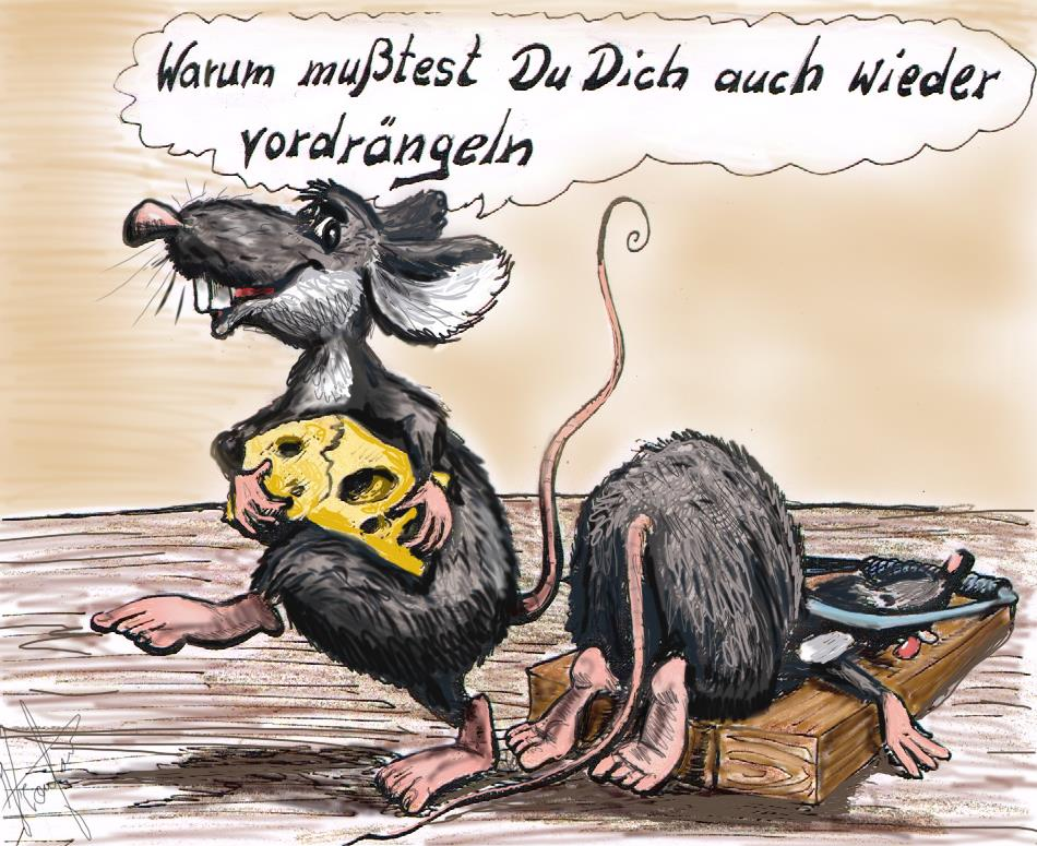 Cartoon, fiese Mäuse