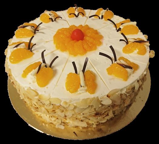 Mandarine - Torte, 26cm