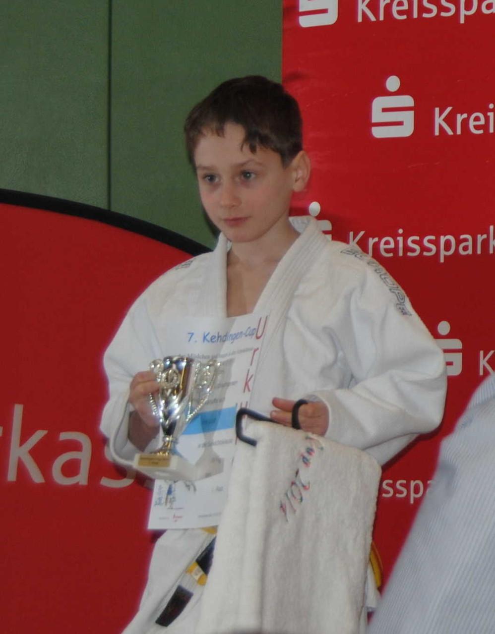 Erik Gardt, 1. Platz mit Pokal und Präsent