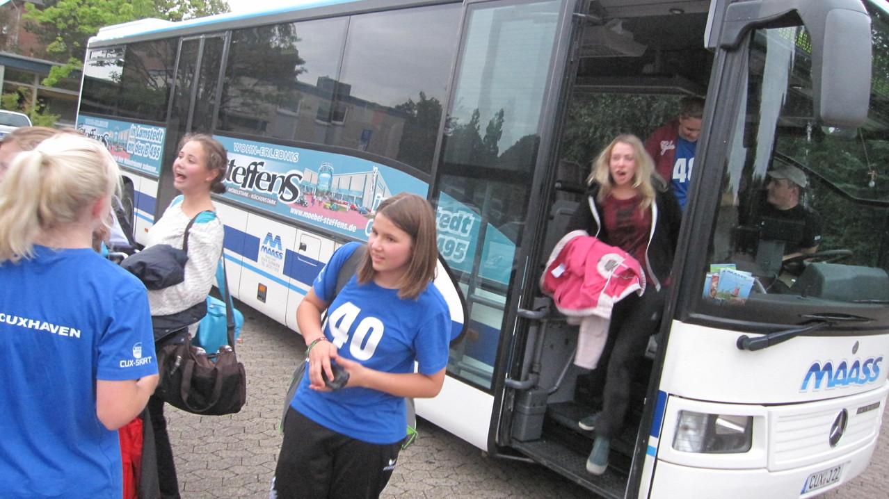 Anreise mit dem Bus aus Cuxhaven
