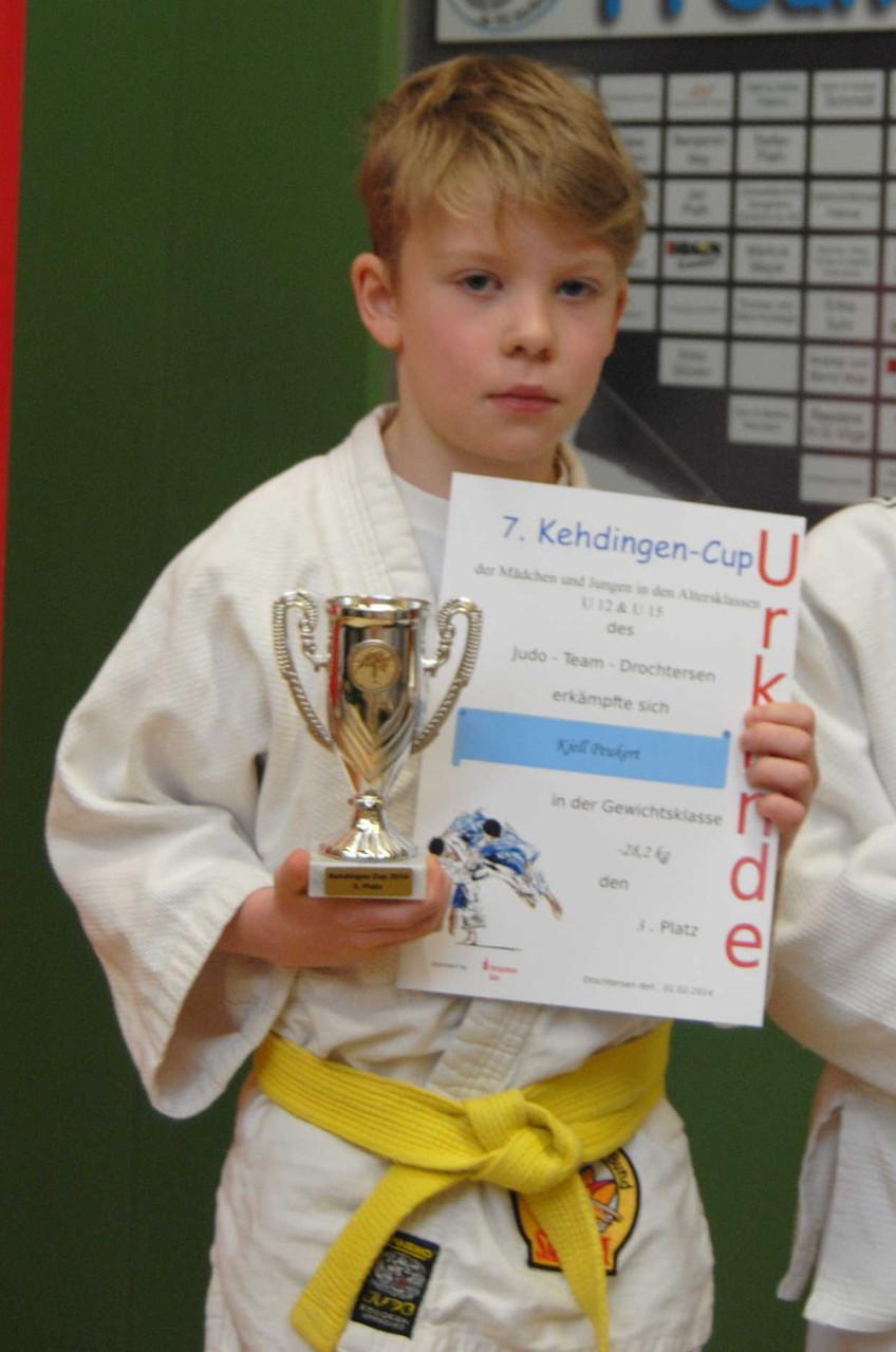 Kjell Peukert, 3. Platz mit Pokal