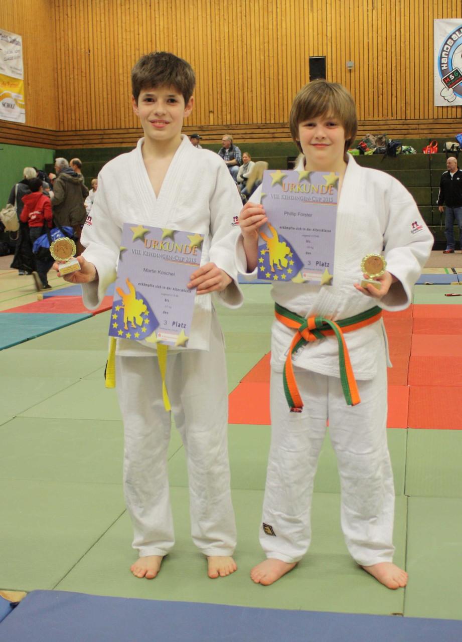 die beiden Sieger des 3. Platzes der U15  Martin Koschel und Philipp Förster: