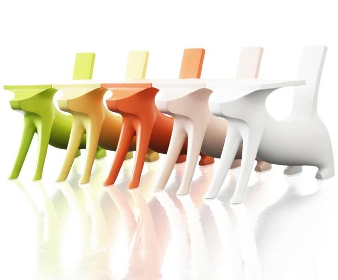 Chantal Bavaud,  Aarau, Schweizer Design,  Product Design, Produkt Design, Magis, Magis me too collection, Philippe Starck, Kindermöbel, Design für Kinder, Hund, stylepark, chien savant