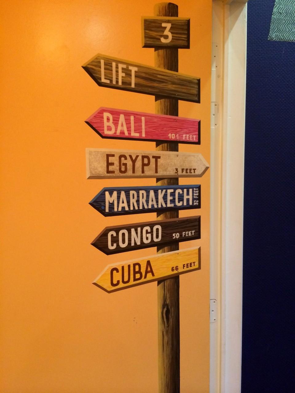 Choisir sa destination = choisir sa chambre